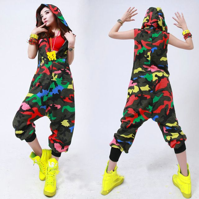 Women Casual Loose Hooded Halter Color Camouflage Full Sleeve Sexy  Jumpsuits Playsuits One Piece Pants 2017 Hot High Quality