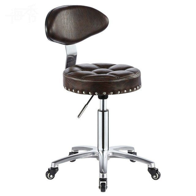 New Office Chair Hairdressing Bar Chair Simple Design Swivel Lifitng Stool Adjustable Height High Quality PU Material Backrest