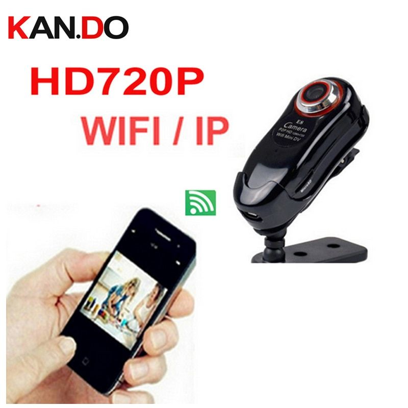 1G save 3.5Hour E8 720P mini camera WIFI CAM Wireless IP Camera SD Card cctv wifi camera monitor camera motion detection alarm
