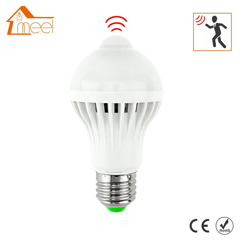 LED PIR Motion Sensor Lamp 5W 7W 9W Led Bulb E27 220V Auto Smart Led PIR Infrared Body Sensor Lamp E27 Motion Sensor Lights