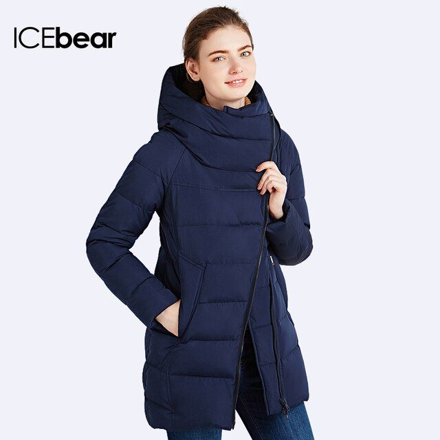 IECbear 2016 New Winter Collection Women's Parka Hooded Warm Jacket New Fashion Brand High Quality Thick Outwear Coat 16G607