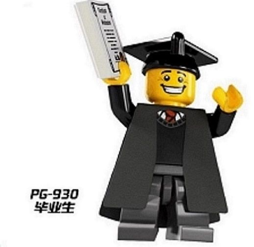 PG930 20Pcs Limited Edition Graduates Imperial Guard  Assemble  Building Blocks Education Learning Kids Bricks