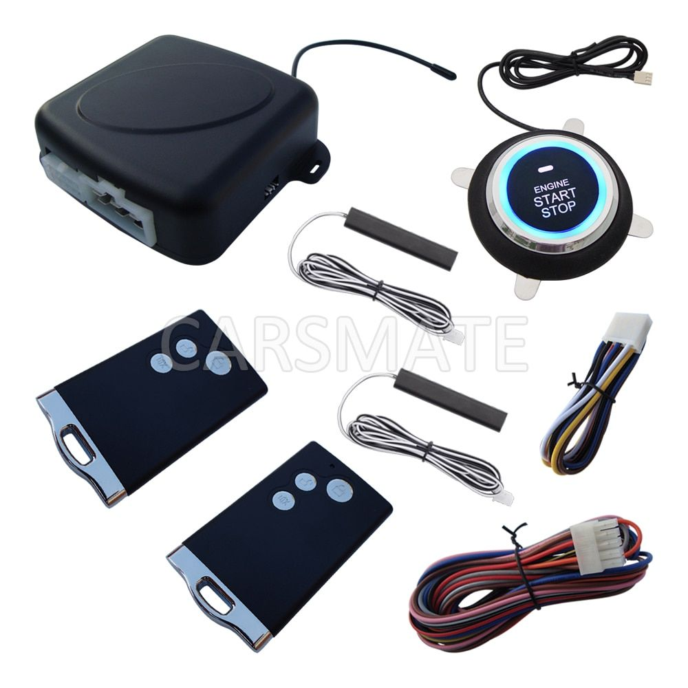 New RFID PKE Car Alarm System Remote Engine Start Cut Off Push Start Car Passive Keyless Entry Fits For DC12v Cars