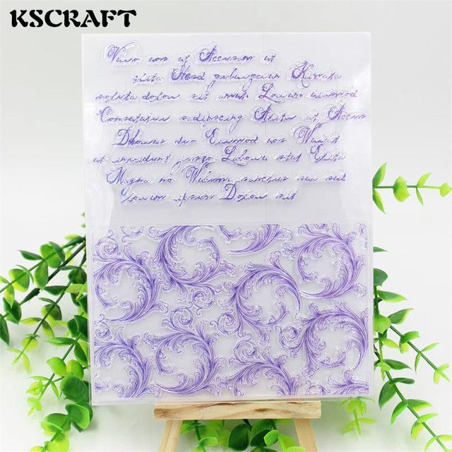 KSCRAFT Flourish Corners Transparent Clear Silicone Stamp/Seal for DIY scrapbooking/photo album Decorative clear stamp sheets