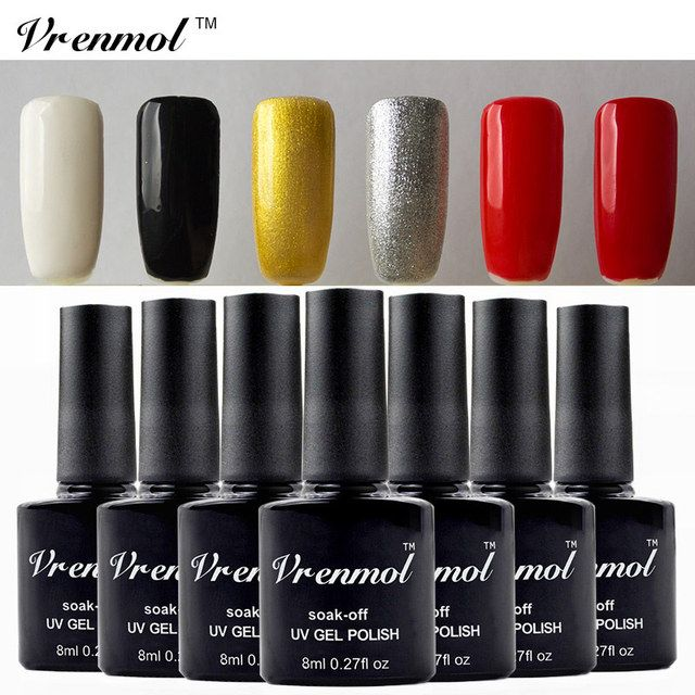 Vrenmol 1pcs 29 Colorful Shining Varnish Soak Off UV Nail Gel Polish Long Lasting Esmaltes Semi Permanent Gel Lacquer
