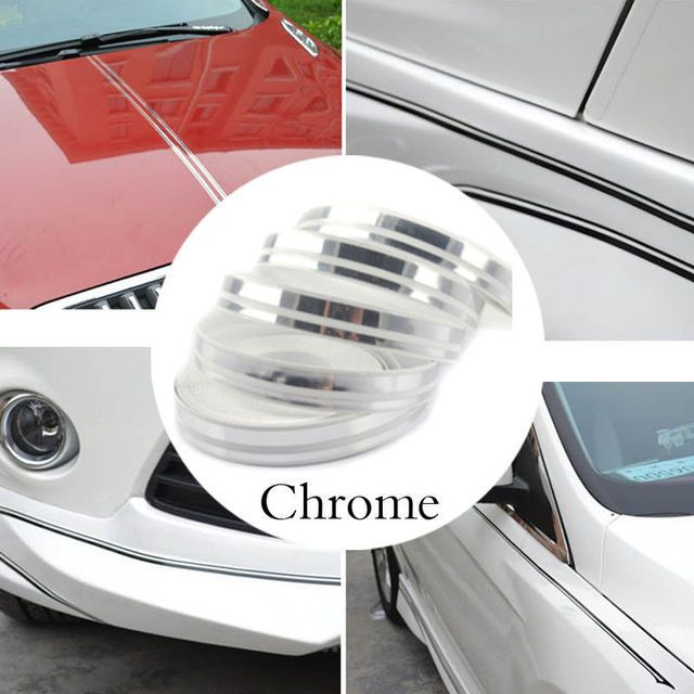 PIN STRIPE Tape Double TAPE Decal Vinyl Sticker CHROME