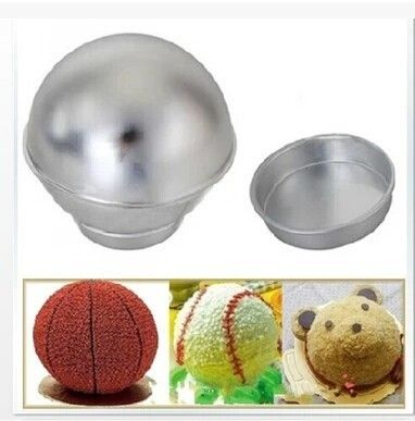 Facemile 3D Aluminum Alloy Ball Sphere Bath Bomb Gift Cake Baking Pastry Mould 04044