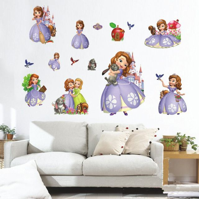 princess sofia 3D DIY wall stickers cabinet mural house wall decals home decoration home decor poster