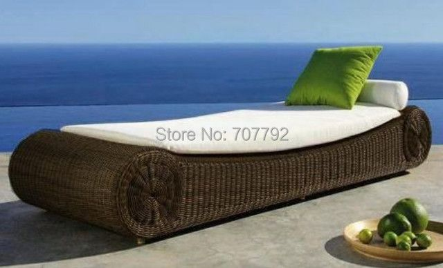 Wicker Patio Furniture Luxury Furniture Rattan sun lounger