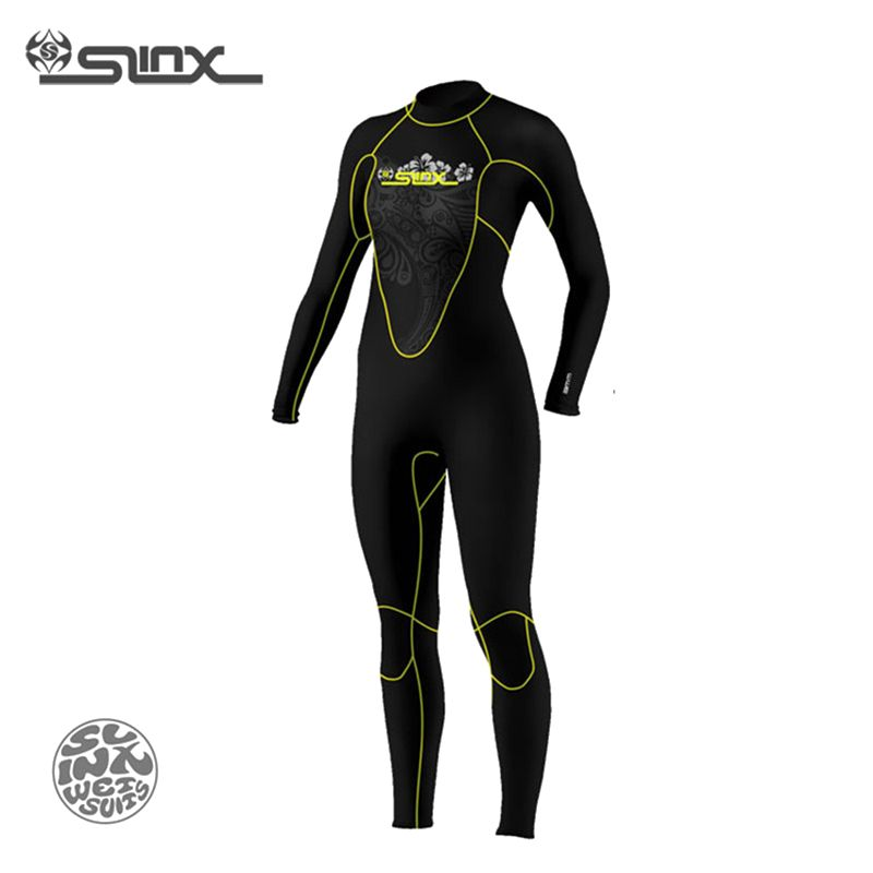 SLINX 1107 5mm Neoprene Women Fleece Lining Warm Wetsuit Swimming Windsurfing Snorkeling Spearfishing Scuba Diving Suit