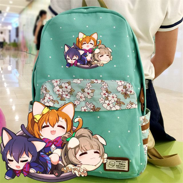 Lovelive School Bag Nozomi Tojo Canvas Lolita Cosplay Backpack Schoolbag Mochila Children Kids High Quality Rucksack for Student