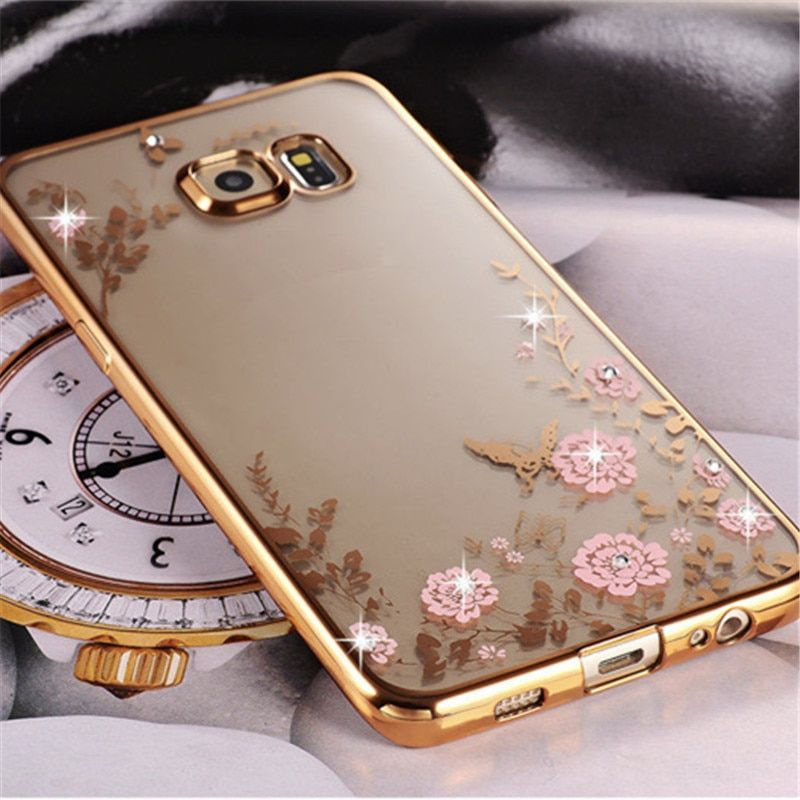 For Samsung Galaxy A5 2015 2016 2017 A510F Royal Luxury Silicon Diamond Crystal Glitter TPU Soft Back Cover Phone Case