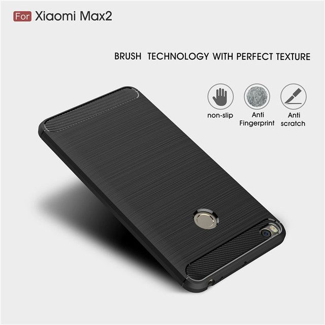 For Xiaomi Max 2 case Luxury Shockproof armor Case Carbon Fiber Soft TPU Drawing Phone Case Back Cover For Xiaomi Mi Max 2