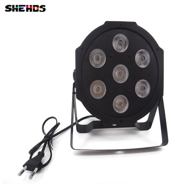2pcs/lot Fast Shipping American DJ Flat SlimPar Tri 7 RGB Color Mixing LED 7x9W DMX Light Uplighting