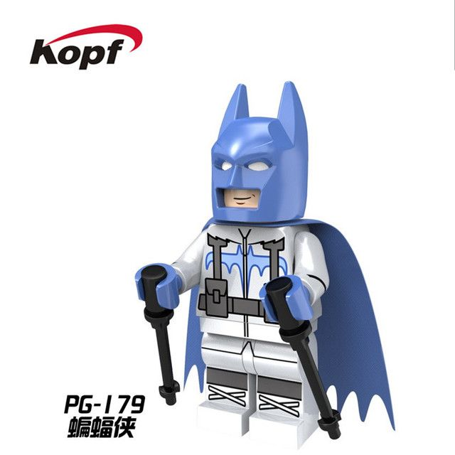 20Pcs PG179 Building Blocks Super Heroes Catwoman Penguin Robin Batman With Ski Suit Movie Bricks Collection Children Gift Toys