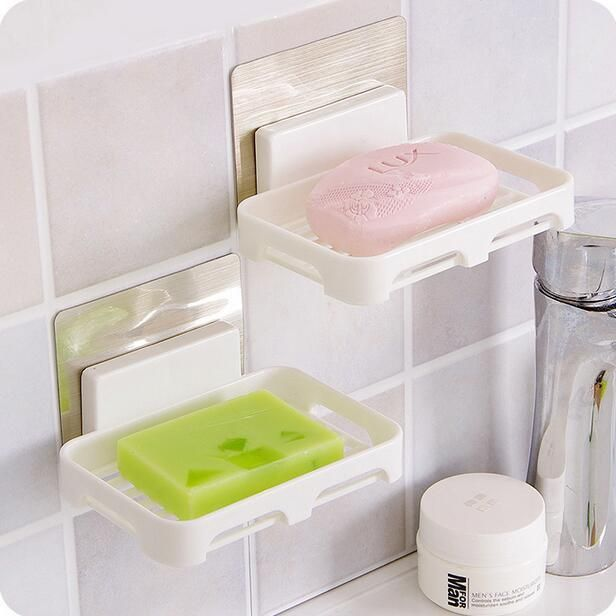 Seamless Bathroom Wall-mounted Storage Box Drainer Soap Rack Multifunctional Sponge Holder