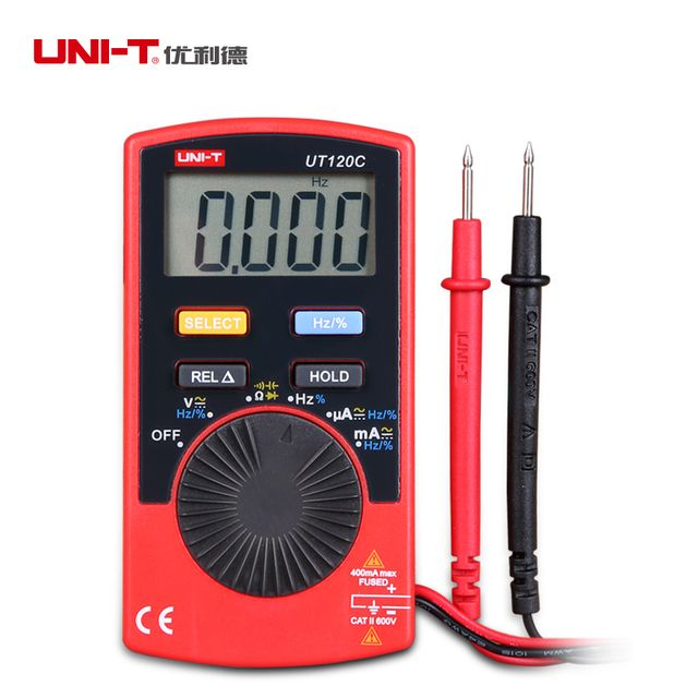 UNI-T UT120C Portable Digital Multimeter Auto Range LCD AC/DC Voltage Current Meter Capacitance Resistance Tester