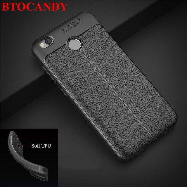 Xiaomi Redmi 4X Case Luxury Soft Silicone Case Back Cover For Xiaomi Redmi 4X Rubber Carbon Fiber Phone Case For Xiaomi Redmi 4X