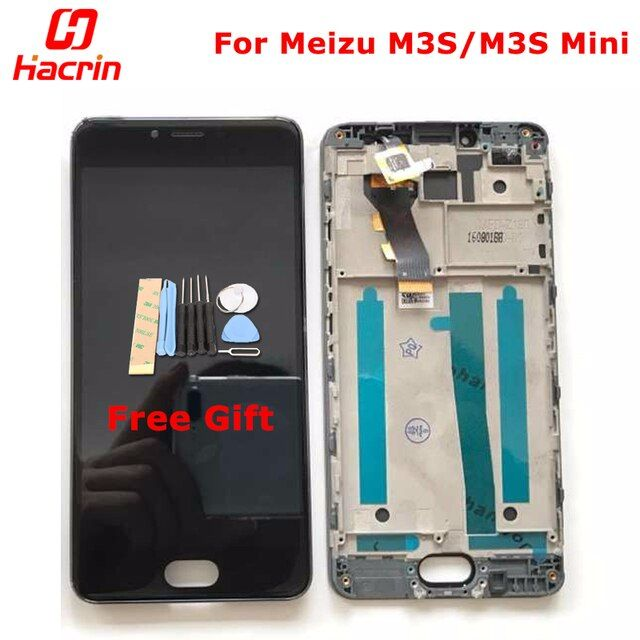 "hacrin Meizu M3S mini LCD Display + Touch Screen With Frame Premium HD Digitizer Assembly Replacement For 5.0"" Mobile Phone"