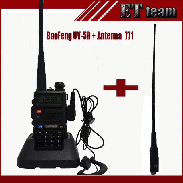 Portable Radio Baofeng UV-5R two way radio Walkie Talkie Dual band uv 5r with Dual Wide Band SMA-F Female Soft Antenna 771