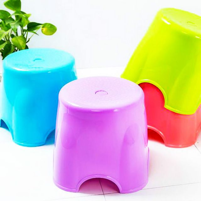 4 pcs/lot Plastic Stools Seat Living Room BATHROOM STEP Furniture  NON SLIP