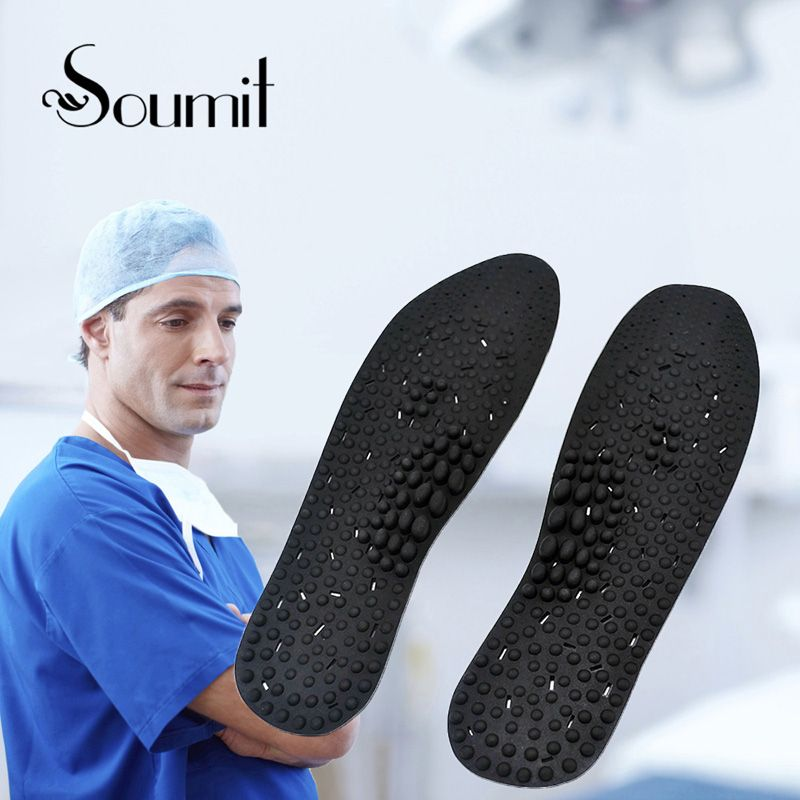 Soumit Silicone Gel Massage Health Care Insoles for Men Women Promote Blood Circulation Shoes Insole Soles Shoe Inserts Foot Pad