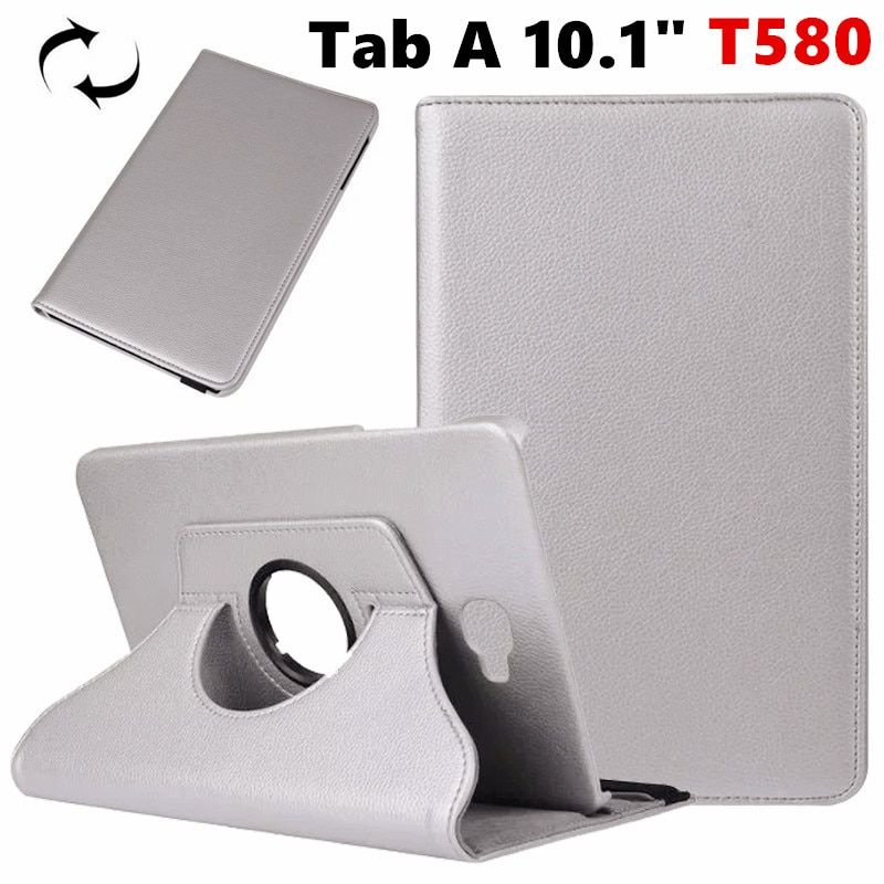 "Tab A6 10.1 360 Degree rotating Folio PU Leather Case Flip Cover For Samsung Galaxy Tab A 6 10.1 T580 T585 10.1"" Tablet Case"
