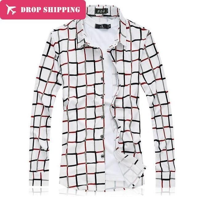 2016 Real Sale Men Shirt Mens 100% Mercerized Cotton Long Sleeve Camisa Masculina Big Size M- 7xl Casual Loose Blouse,gx463