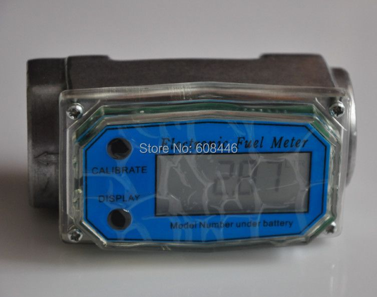 1'  10-200 L/Min Turbine Digital Diesel Fuel Flow Meter NPT