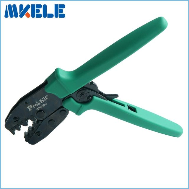 CP-230C connecting bare clamp ratchet terminal crimping tool cold press pliers