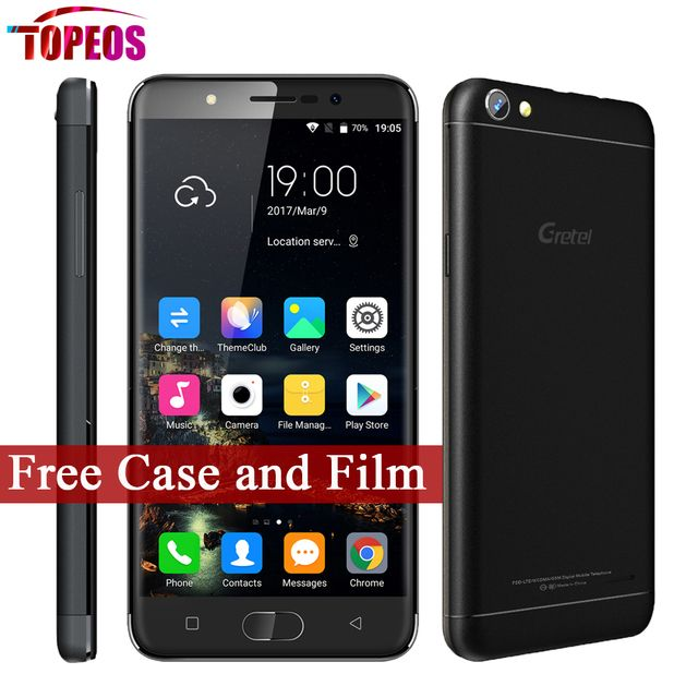 5 inch Gretel A9 MTK6737 Quad Core Android 6.0 Phone 2GB RAM 16GB ROM 1280*720 8MP Fingerprint 2300mAh Full Metal Smartphone