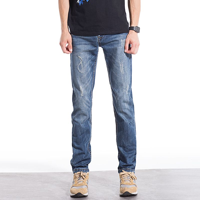 Large size cotton men jeans high quality straight denim jeans men casual brand mens jeans