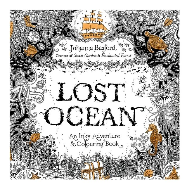 Lost Ocean Book Coloring Books for Adult Kids Painting Antistress Mandala Secret Garden Quiet Color Drawing 18.5*18.5cm 24Pages