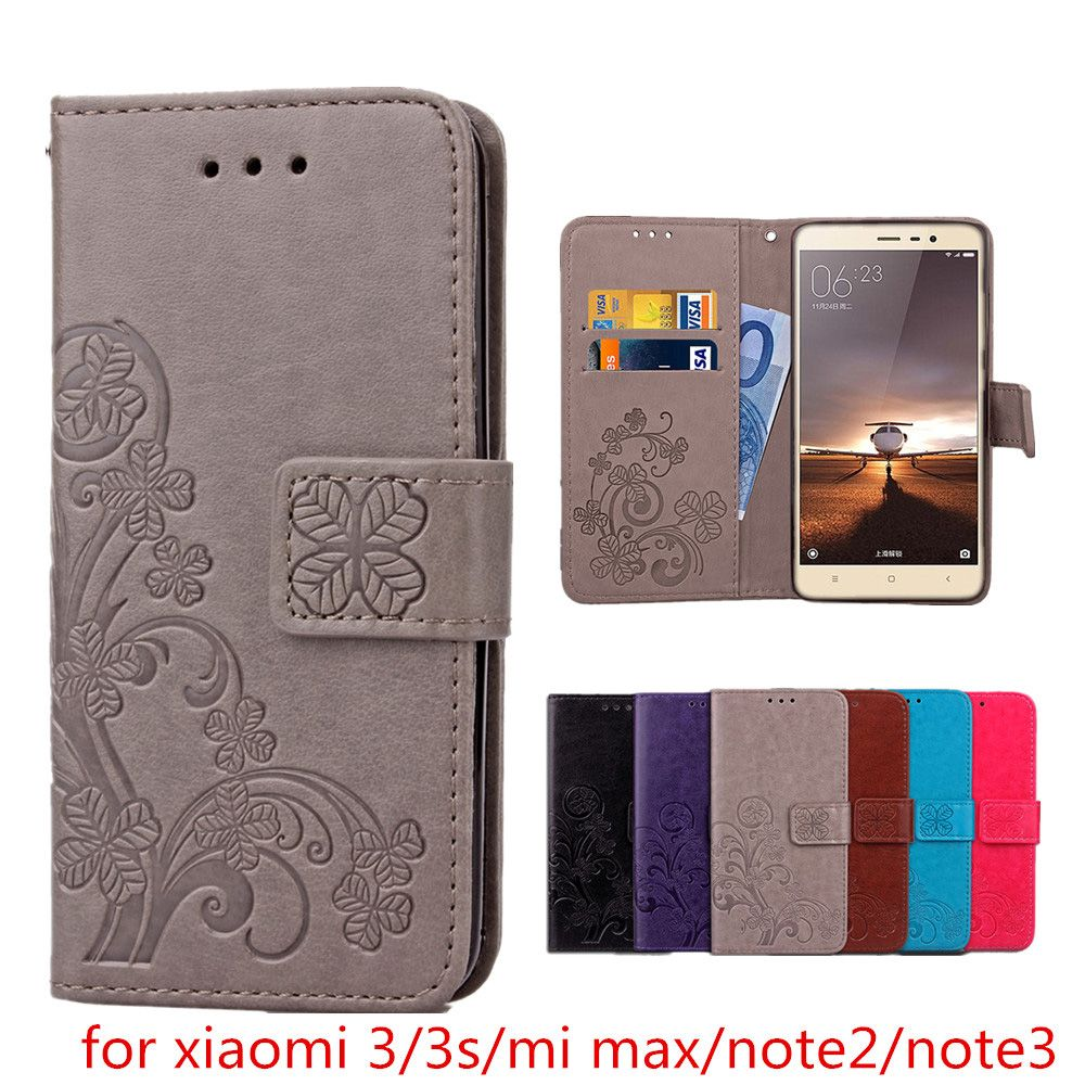 For Xiaomi Redmi 3S Luxury Leather Wallet flip Cover Case For Xiaomi Redmi 3 3S 3 S Note 2 Note 3 Mi Max 2 Phone Protective Case