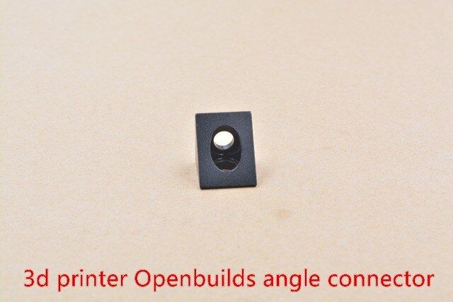 3D printer parts Openbuilds fittings black angle angle connector triangular aluminum piece blast oxidation 1pcs