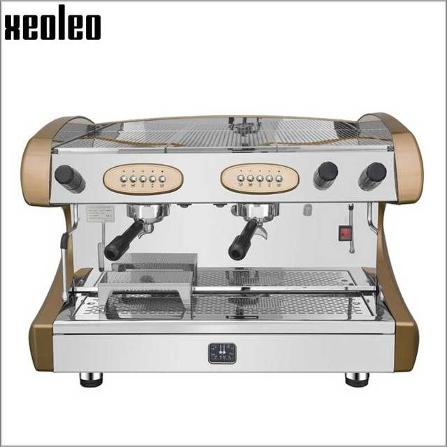 Xeoleo Double nozzle Commercial Semi-Automatic Espresso machine semiautomatic coffee maker Professional Coffee machine