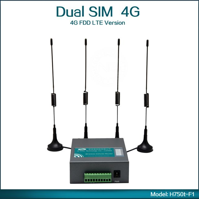Industrial Grade 4G FDD LTE Wireless Router 4G Wifi Router With Dual Sim Card Slot ( Model:H750t-F1 )