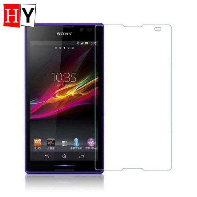 Ultrathin 0.26MM Tempered LCD Glass Film For SONY Xperia C S39H CN3 C2305 AGC Screen Glass Protectors Pelicula De Vidro Gift