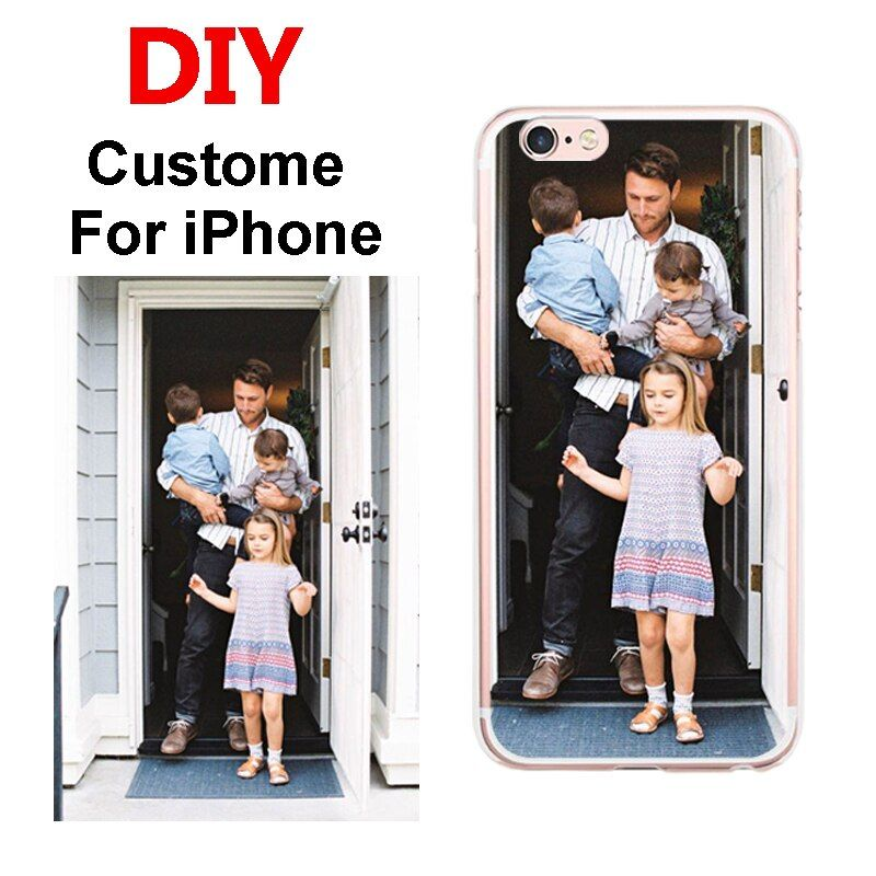 Custom DIY Print Phone Cases For Apple iPhone X 5 5S SE 6 6S 7 8Plus 6Plus Cover Case Personalized Silicone Soft Back Shell Bags