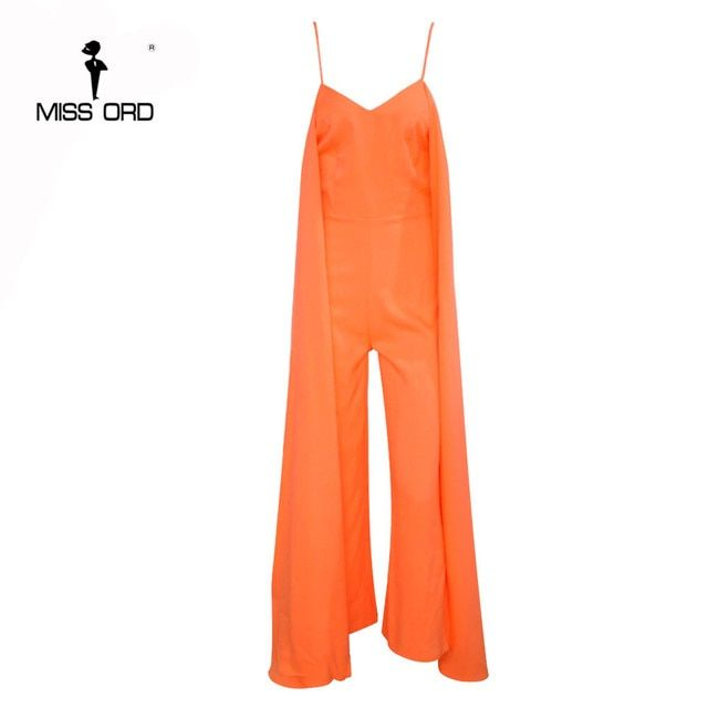 Free Shipping Missord 2017 Sexy v-neck halter sleeveless jumpsuit FT4654