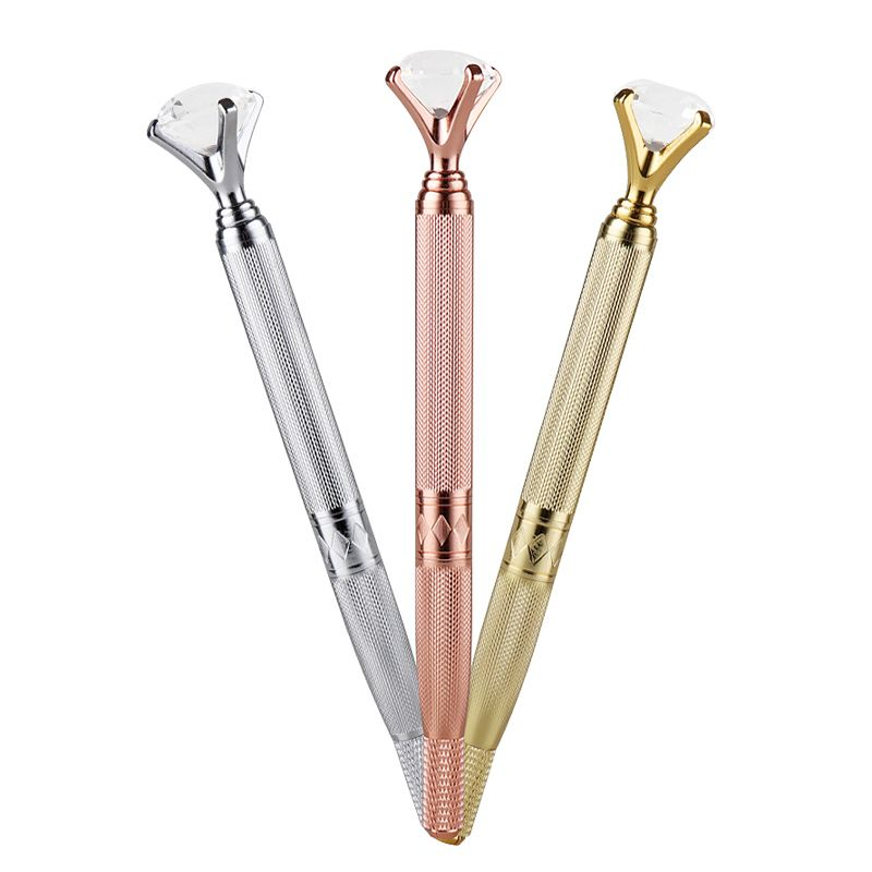Caneta Tebori Microblading Eyebrow Manual Pen Tattoo Machine For Permanent Makeup Eyebrow Lip Munsu Tebori With Crystal Diamond