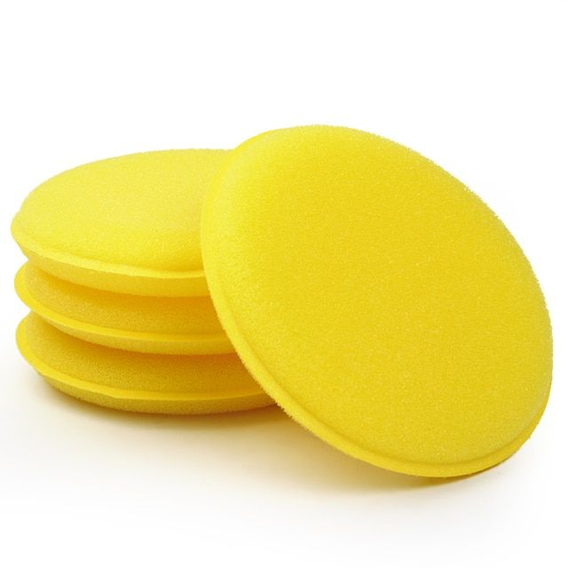 Yellow Anti-Scratch Car Wax Sponge Applicator Pads Tyre Dressing Foam Polishing Towel 12 pcs/set Car Cleaning Tool