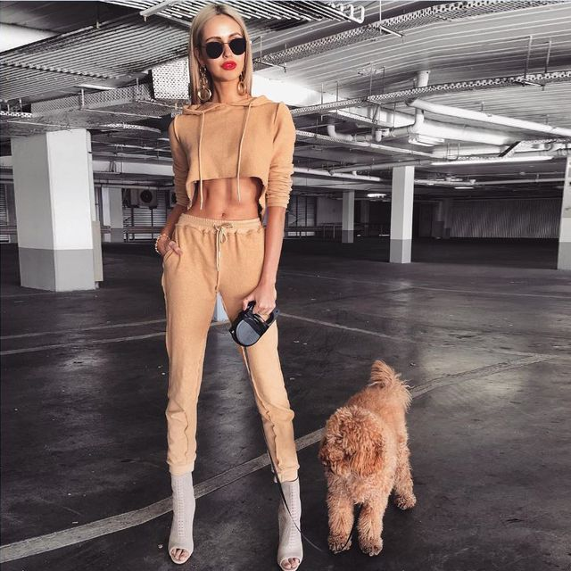 2017 winter Women Two Piece Outfits Pants Set Rompers Jumpsuit #7 Long Pants 2 Piece Set army Crop Tops + pants casual rompers