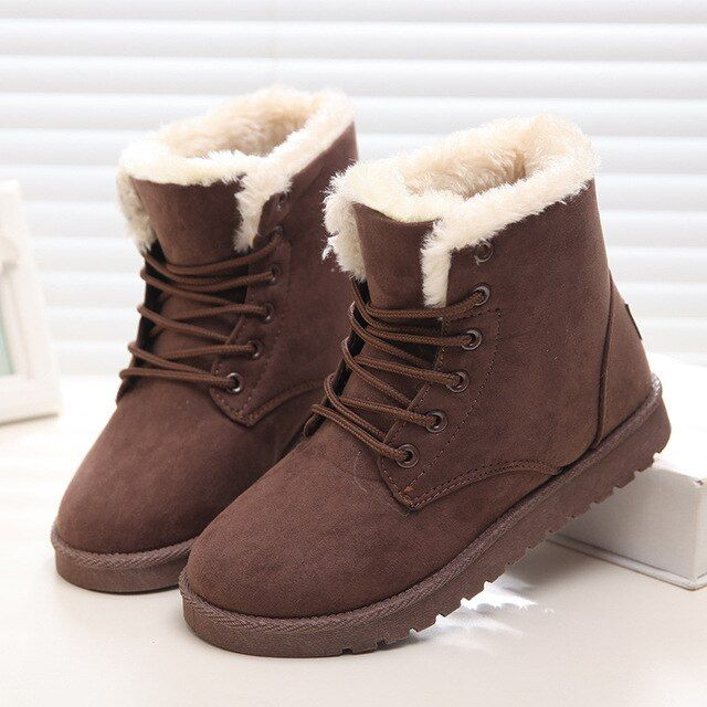 2017 Women Snow Boots Martin Boots Classic Winter Outwear Cotton Warm Fur Boots Eight Color Solid Available Footwear Shoes DT472