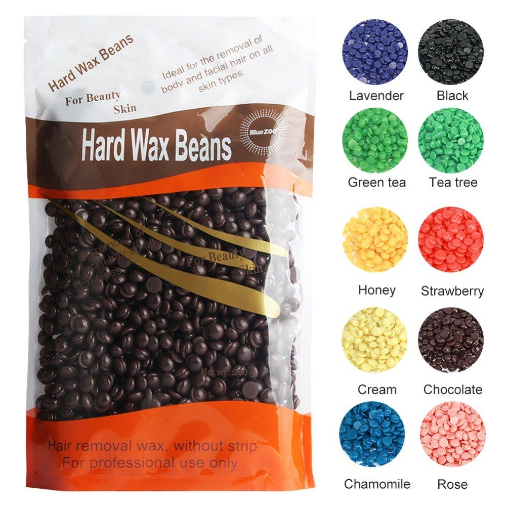 Hot Sell 10 Colors Depilatory Hot Film Hard Wax beans Pellet Waxing Bikini Hair Removal wax 300g/pack
