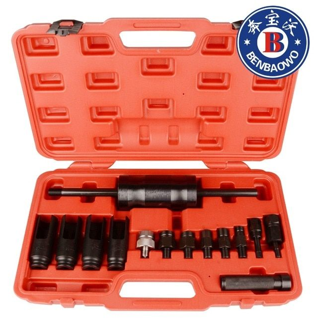 BENBAOWO TOOLS 14 Piece Injection Puller Tool Bo sch D elphi Deso Siemens Diesel Injector Remover