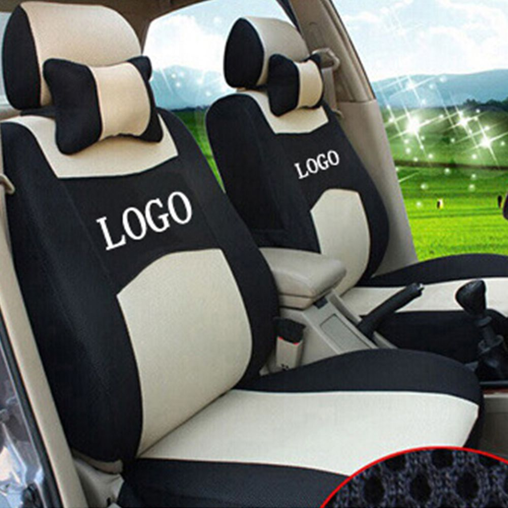 For SEAT LEON Ibiza EXEO 4 color Embroidery logo ventilation firm Car Seat Cover Front and Rear full seat cover free shipping
