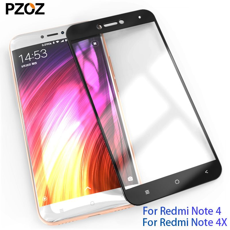 PZOZ xiaomi redmi note 4x glass full cover prime screen protector xiaomi redmi note 4 pro tempered xiomi redmi note4x glass 2.5D
