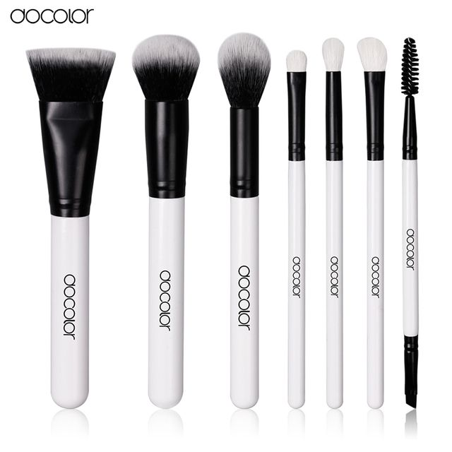 New Arrival Docolor 7PCS make up brushes set Professional high quality brush set soft hair beauty essential makeup tools