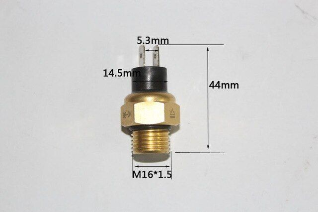 M16 * 1.5 Radiator Water temperature switch / Sensor for Benelli BN TNT 600 Keeway RK6 STELS600 BN600GT BN 302 TNT 300 STELS 300